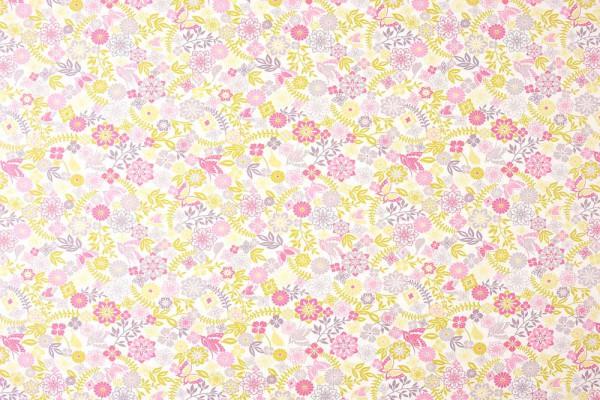 Caselio Girls only Stoff Paradies Garten türkis pink