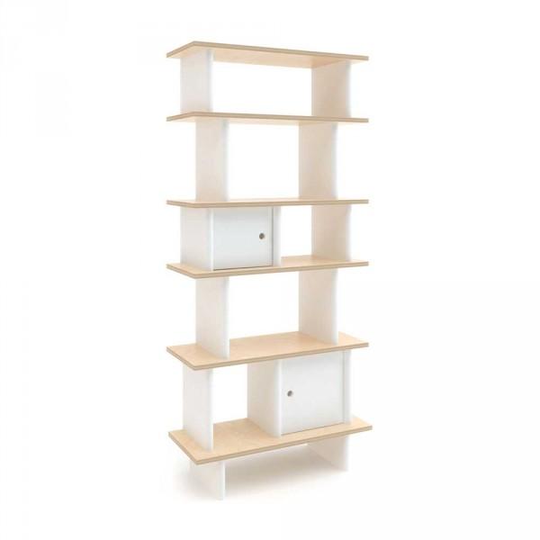 Oeuf Bücherregal Mini Library schmal Birke mit weiß