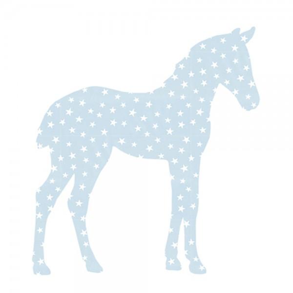 Inke Tapetentier Fohlen hellblau Sterne