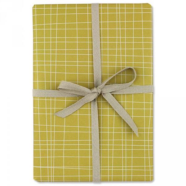 Ava & Yves Geschenkpapier Fäden gelb