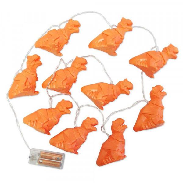 Led Lichterkette Origami Dinosaurier orange