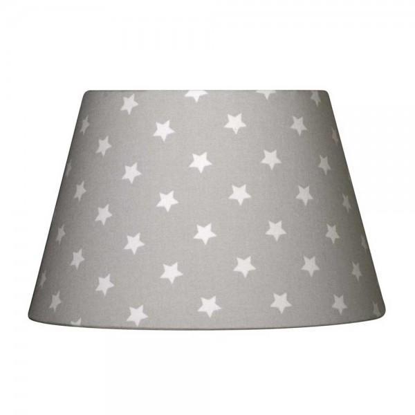 Nordika Lampenschirm grau Sterne weiss M3