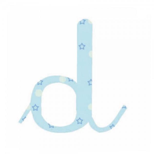 Lilipinso Sticker blau Buchstabe d