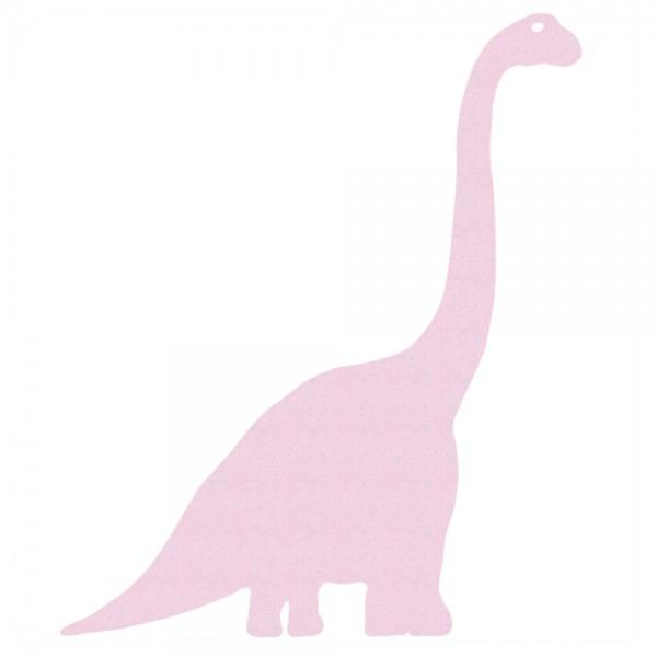 Inke Tapeten Dinosaurier Diplodokus uni rosa