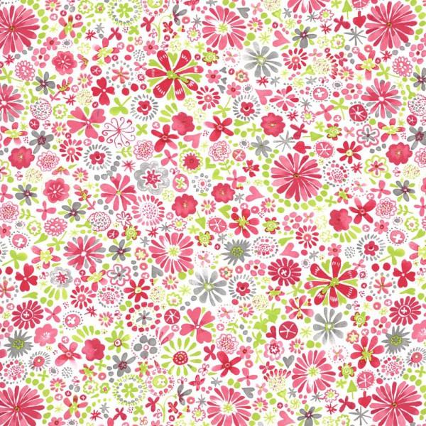 Camengo Abracadabra Tapete Blumengarten pink grün