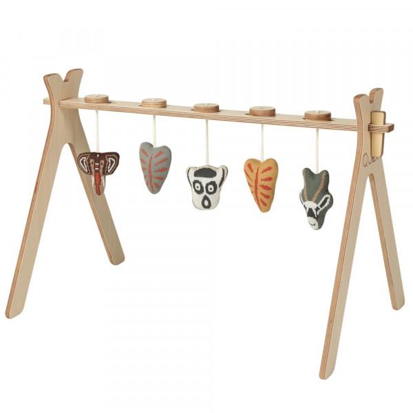Quax Baby Spielbogen Holz mit Strickfiguren