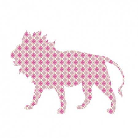 Inke Tapetentier Löwe Raster rosa