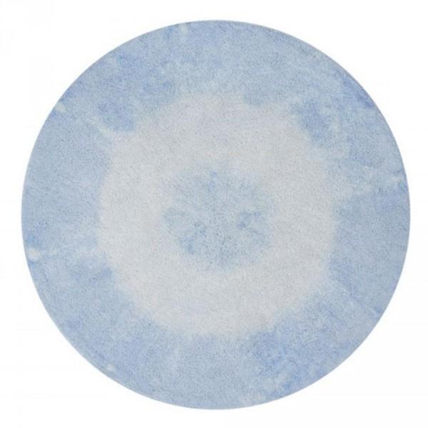 Lorena Canals Teppich rund Baumwolle Tie Dye blau