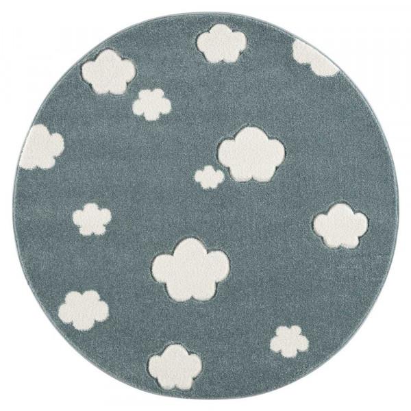 Livone Teppich rund Wolken mint