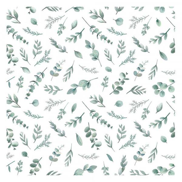 Lilipinso Vlies Tapete Eucalyptuszweige zartgrün