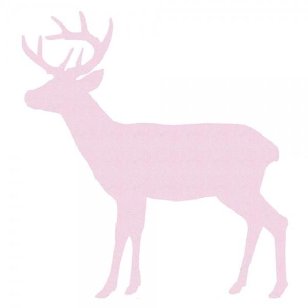 Inke Tapetentier Hirsch uni rosa