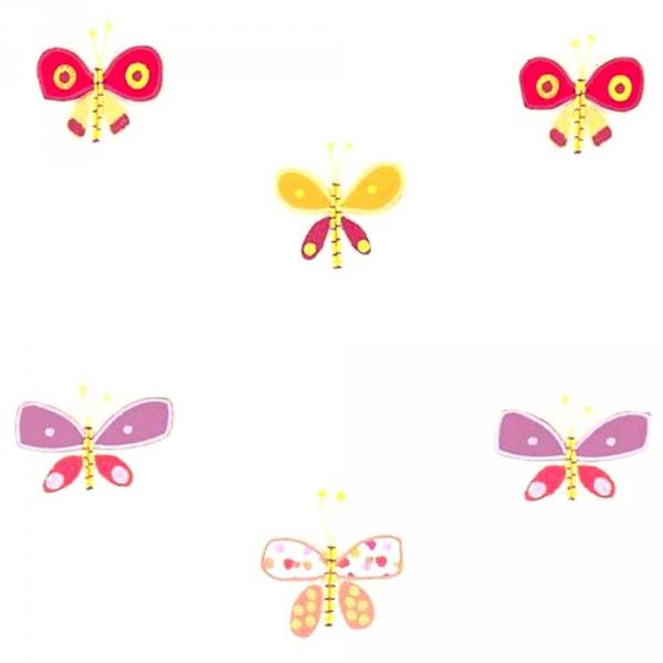 Scion Guess Who Voile Schmetterlinge pink orange lila