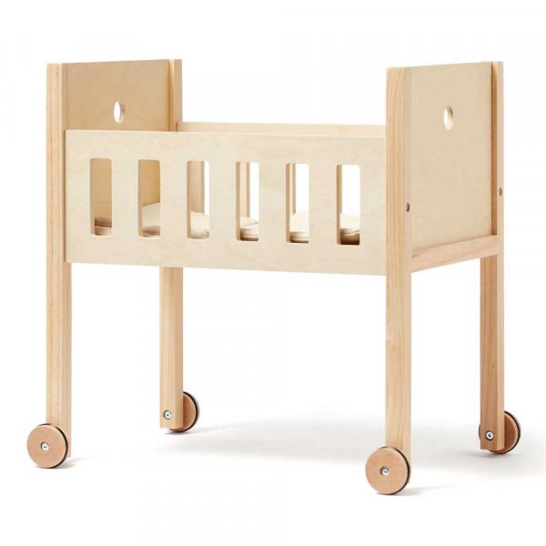 Kids Concept Spielzeug Puppenbett mit Bettwäsche Holz natur