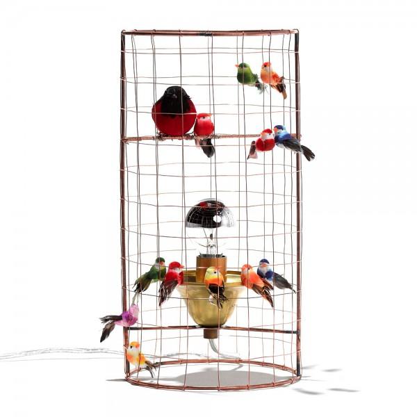 Challières Tischlampe Vogelvoliere klein