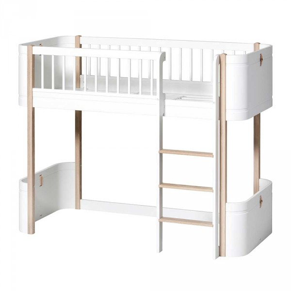 Oliver Furniture Wood Mini+ halbhohes Hochbett Eiche