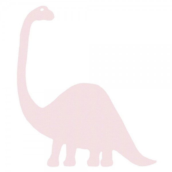 Inke Tapetendino Brontosaurus rosa Punkte weiss