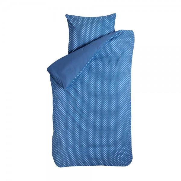 Bink Bettwäsche Tupfen jeansblau 135 x 200