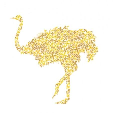 Inke Tapetenstrauss Pusteblume gelb