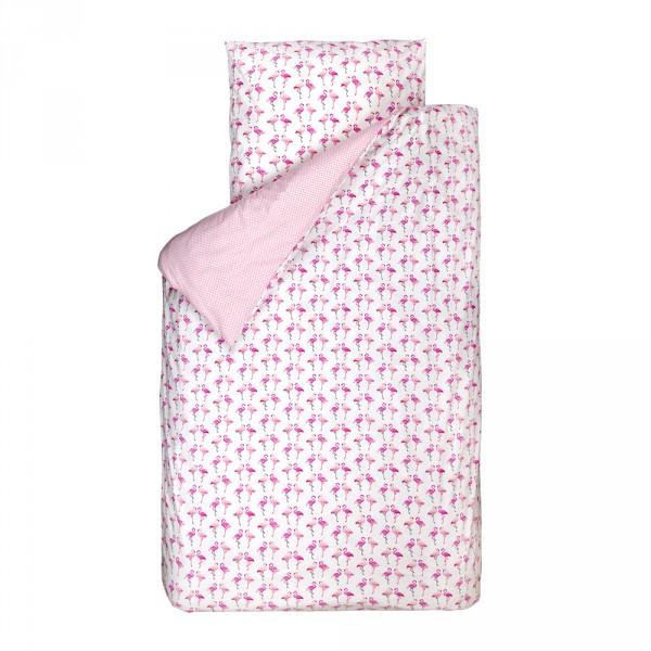 Bink Bettwäsche Flamingos pink weiß 135 x 200