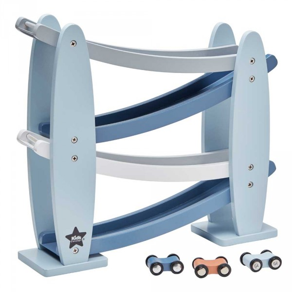 Kids Concept Kugelbahn mit Autos blau