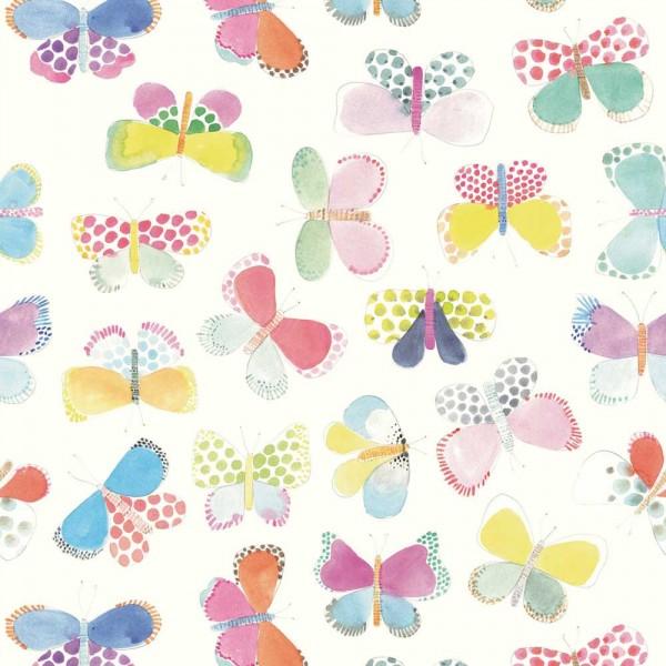 Rice Wandbild Butterflies weiss
