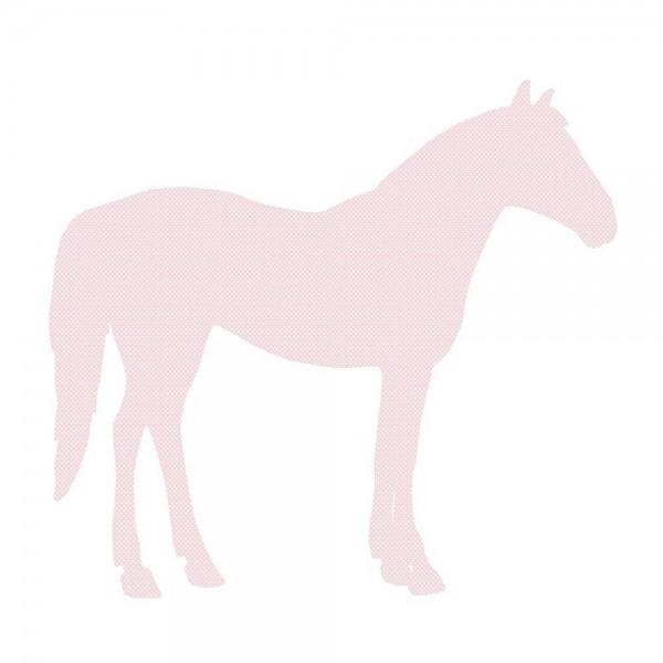 Inke Tapetentier Pferd rosa Punkte weiss
