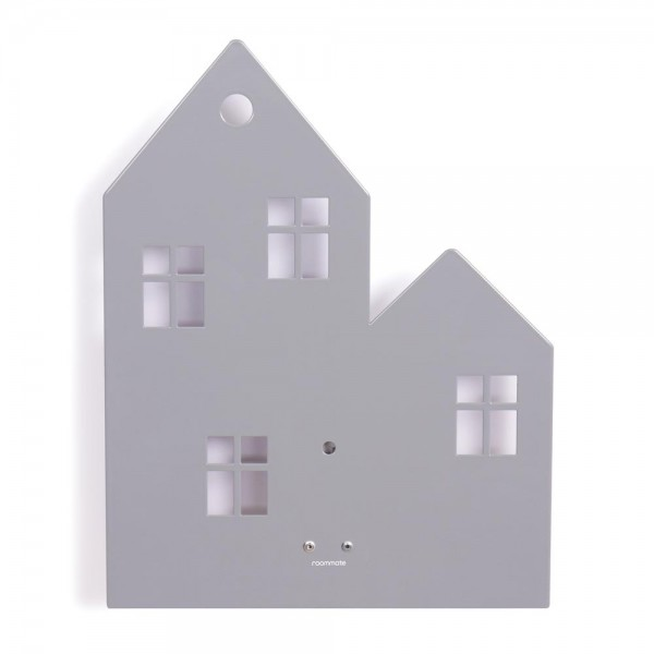 Roommate Wandlampe Haus Metall grau