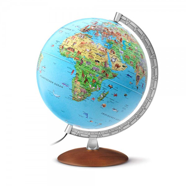 "Räth Kinder Leuchtglobus ""Afrika"" klassisch mit Holzfuß"
