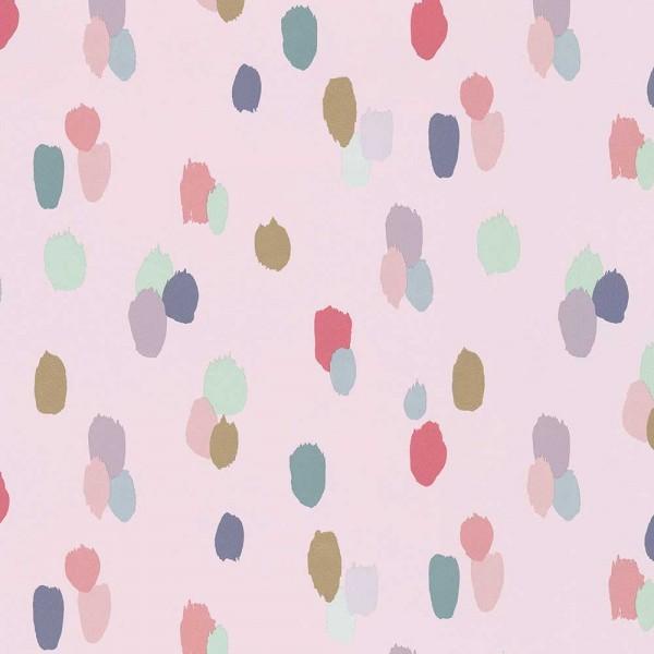 Rice Tapete bunte Punkte rosa