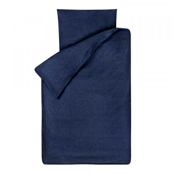 Bink Bettwäsche Bo uni jeansblau 135 x 200