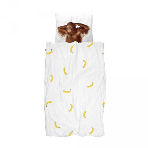 Snurk Bettwäsche Affe und Bananen 135 x 200