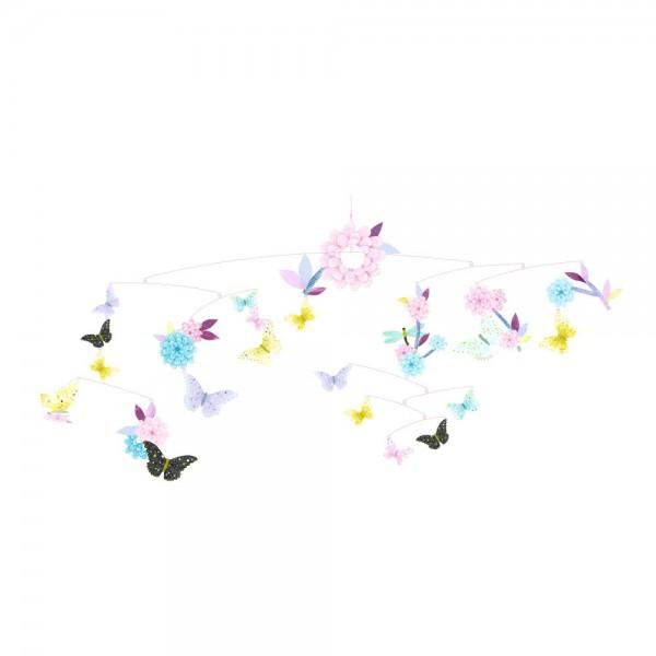 Djeco Kinder Mobile Schmetterlinge pastell