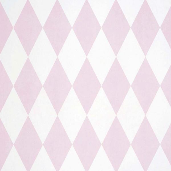 Casadeco Alice & Paul Tapete Harlequin Rauten rosa