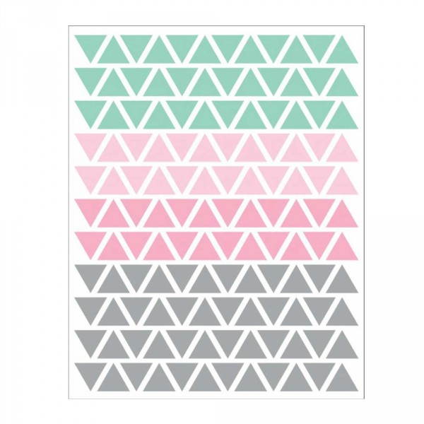 tresxics Wandsticker Dreiecke mint rosa grau