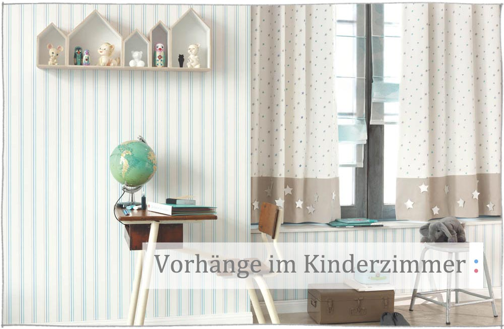 kinderzimmer mit gardinen vorhangen dekorieren kindervorhaenge