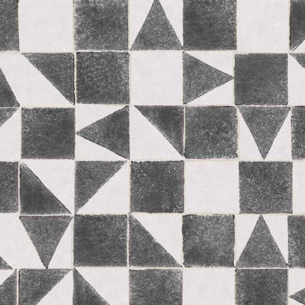 Eijffinger Mini Me Tapete Mosaik anthrazit grau