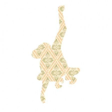 Inke Tapetentier Affe Raute beige
