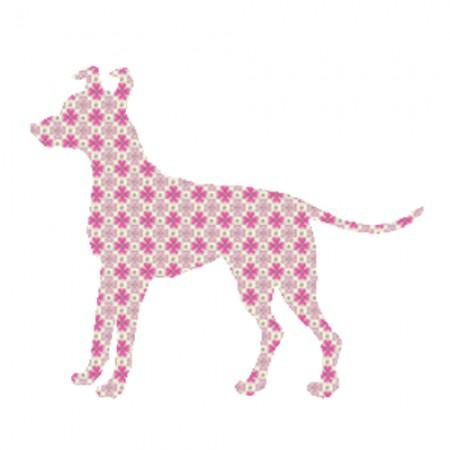 Inke Tapetentier Hund Raster rosa