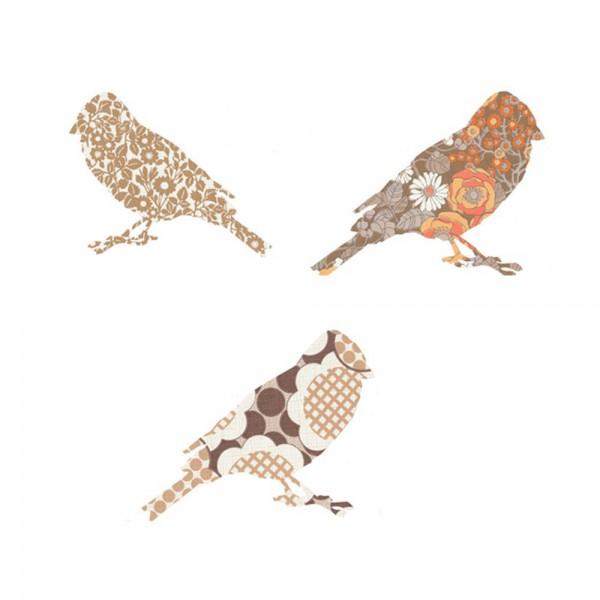 Inke Tapetenvögel braun