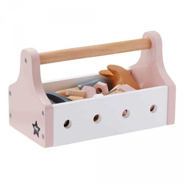 Kids Concept Spiel Werkzeugkasten Holz rosa