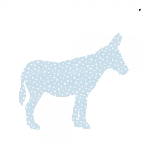 Inke Tapetentier Esel hellblau Sterne