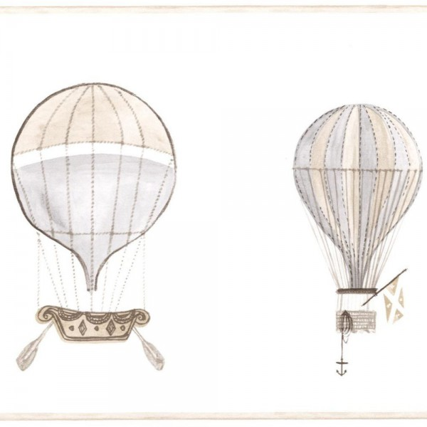 Casadeco Bordüre Ballons grau braun Jules & Julie