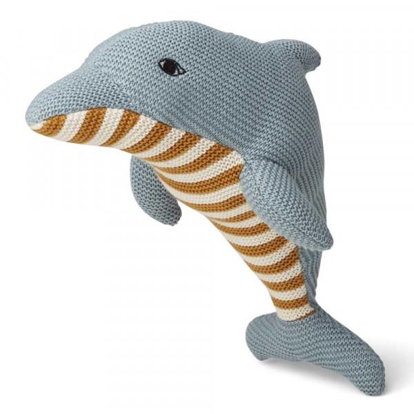 """Liewood """"Diver"""" Kuscheltier Delfin hellblau"""