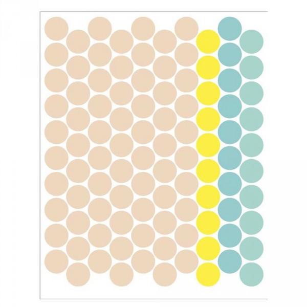 tresxics Wandsticker Punkte beige