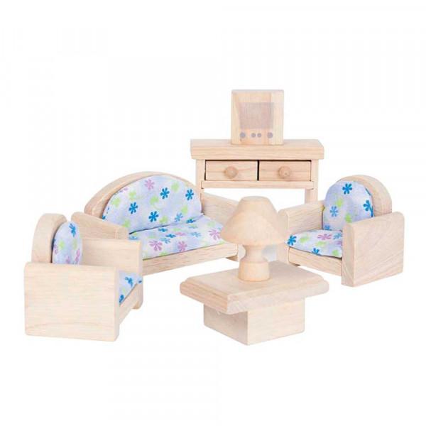 Plan Toys Wohnzimmer klassisch Zubehör für Puppenhaus