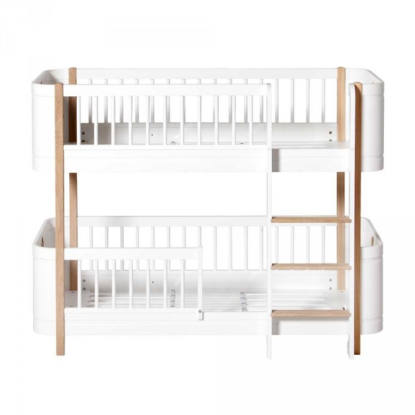 Oliver Furniture Wood Mini+ Umbauset Juniorbett zu halbhohem Etagenbett Eiche