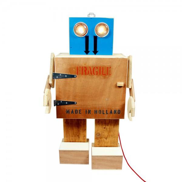 Rijkswachters Nachtschränkchen Roboter mit Lampe xlarge
