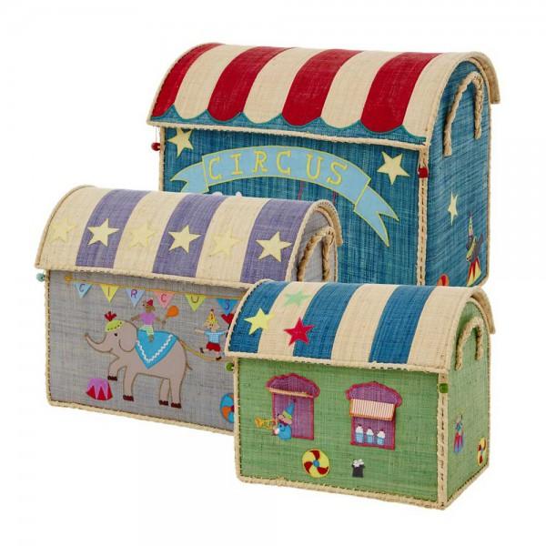 Rice Spielzeugkörbe Zirkus Set