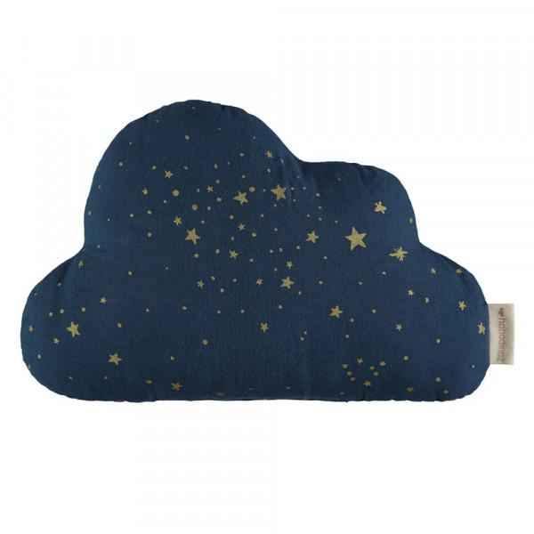 Nobodinoz Wolkenkissen goldene Sterne blau