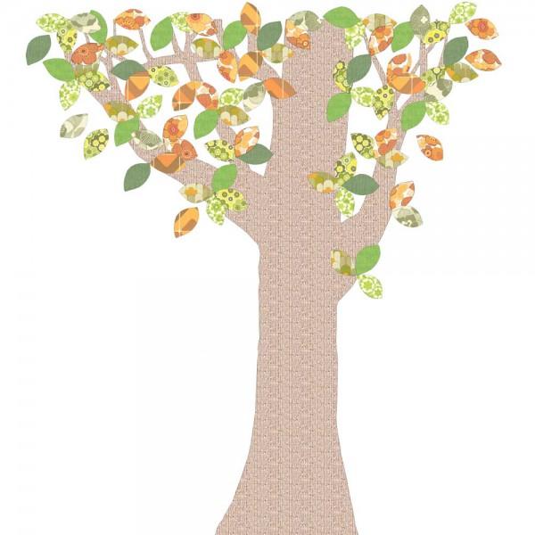 Inke Tapetenbaum Reliefstamm grün/braun